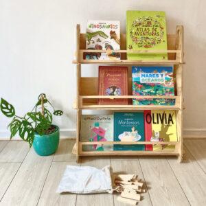 Librero infantil Montessori. Librero para niños.