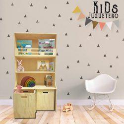 Mueble infantil con dos cajones móviles para juguetes.